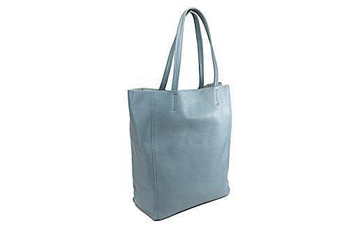 Giudi ® Shopper - Damen Tasche aus geprägtem Kalbsleder, mit herausnehmbarer Innentasche, elegant und diskret, hochwertig, ökologisch, nachhaltig