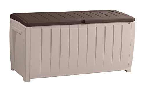 Keter Novel Plastic Deck Storage Container Box Outdoor Patio Furniture 90 Gal,...