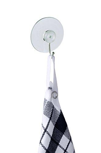Wenko 4419020100 Saughaken Nickel Transparent - 4er Set, ohne Bohren, Kunststoff, 4.2 x 4.8 x 2 cm, Transparent