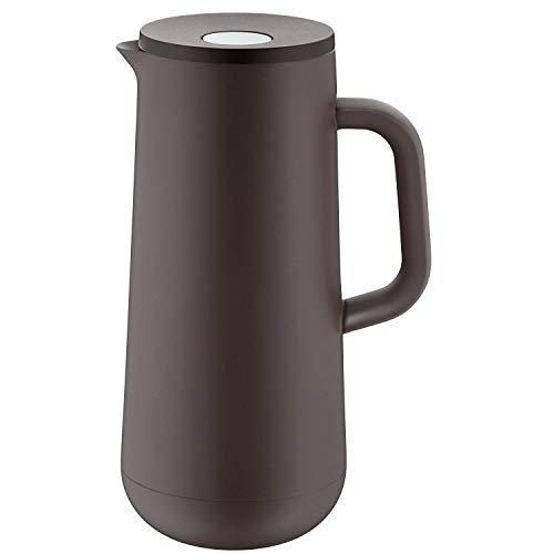WMF Impulse WMF Isolierkanne Impulse anthrazit Kaffee Tee 1,0l, Höhe 28,5cm Glaseinsatz Automatikverschluss 24h, Taupe, 29 x 24 x 24 cm