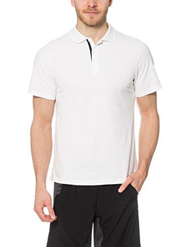 Ultra Sport Mens Tennis Polo Auckland, Blanc / Noir, S, 12105