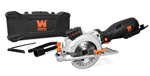 WEN 3625 5-Amp 4-1/2-Inch Beveling Compact Circular Saw with Laser and...