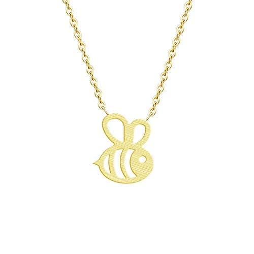 LUXMAX schön Halskette Fomous Schmuck Hummel Bienenhalskette Form Hüter Insekt Charm Anhänger Lange Halskette für Frauen Mädchen