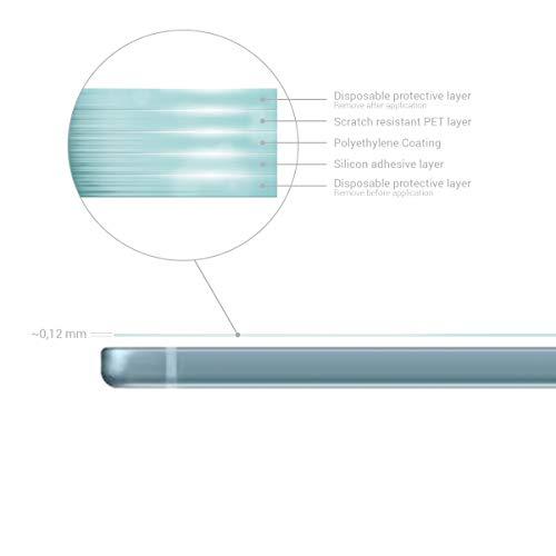 kwmobile 2X Folie kompatibel mit Samsung Galaxy Tab S6 Lite - Full Screen Tablet Schutzfolie entspiegelt