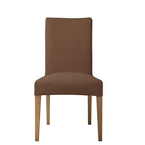 E EBETA Jacquard Fundas para sillas Pack de 6 Fundas sillas Comedor Fundas elásticas Cubiertas para sillas,bielástico Extraíble Funda, Muy fácil de Limpiar (Coffe, 6 Piezas)