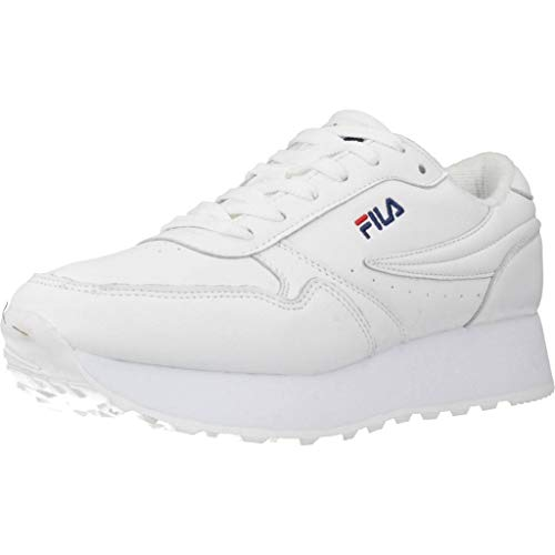 Fila Orbit Zeppa Low Wmn, Zapatillas para Mujer, Blanco (White 1010311-1fg), 38 EU