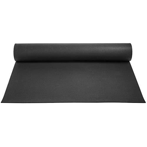 Husuper Suelo para Gimnasio PVC Equipo Alfombrilla de Suelo 9.5mm Pavimento de Caucho Rollo Goma Antideslizante Alfombra Caucho Suelo de Gimnasio 4 x 10FT Color Negro