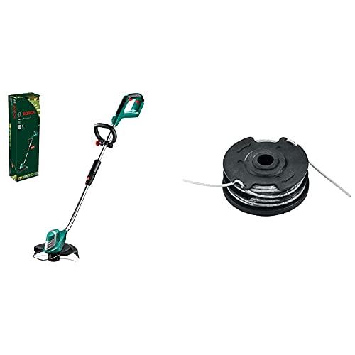 Bosch Home and GardenBosch 0600878N04 AdvancedGrassCut 36, TAGLIABORDI A BATTERIA (batteria non inclusa) & F.016.800.351 - Ricarica e bobina filo integrata per molatrici