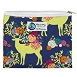 Planet Wise Reusable Zipper Sandwich and Snack Bags, Sandwich, Caribou Bloom
