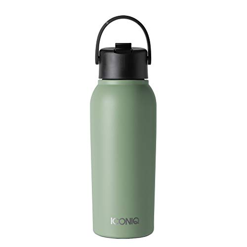 ICONIQ 32 oz X Bottle - Stainless Steel Insulated Water Bottle with Straw Lid - Hinterland Green Kentucky