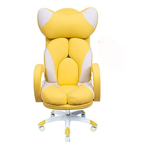 DEMXYA Rosa Nette Stühle Spielstuhl Computerstuhl Komfortabler Stuhl, Spielstuhl Sessel Sessel (Color : Black)