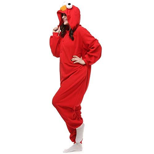 Amazing cosplay Unisex Adult Elmo Onesie Animal Cosplay Costume Xmas (Small)