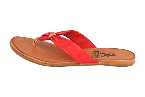 MUSTANG Shoes Zehentrenner in Übergrößen Rot 8003-702-5 große Damenschuhe, Größe:43