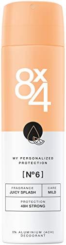 8X4 Deo Spray N°6 Juicy Splash (150 ml), Damen Deodorant mit orientalisch-fruchtigem Duft, Deo ohne Aluminium für jeden Hauttyp