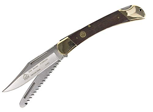 Puma SGB Warden with Saw Jacaranda Wood Lockback Folding Knife