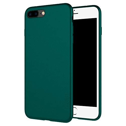 X-level Cover per iPhone 8 Plus,iPhone 7 Plus,Custodia Protezione in Morbida Silicone TPU,Ultra Sottile e Anti-Graffio, Cover Ultra Slim per iPhone 8 Plus/iPhone 7 Plus (5.5 Pollici)-Verde