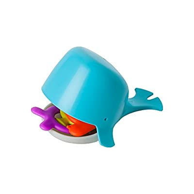 Boon CHOMP Toddler Sensory Bath Tub Whale Toy for Kids Aged 10 Months and Up, Aqua
