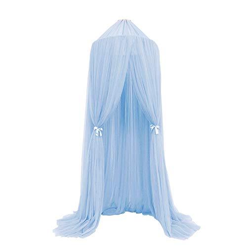 Pueri Baby Betthimmel Deko Baldachin Mückennetz Moskitonetz für Baby Kinder (Himmelblau)