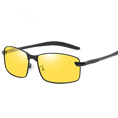 FVANOR G1YE Mens Sunglasses HD Polarized Glasses for Driving Fishing Shooting Aviator Anti Glare Alleviate Eye Fatigue Safety Nightguide Sunglasses (Yellow)