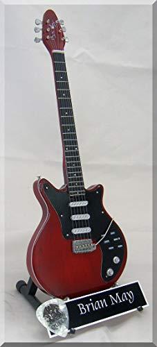 Brian May - Guitarra en miniatura Burn Queen Freddie con púa de guitarra
