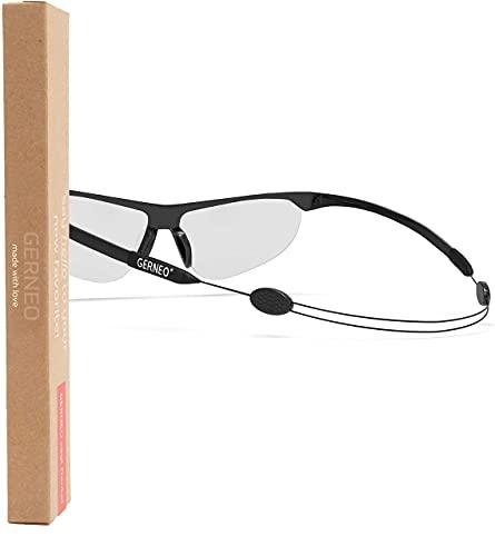 GERNEO® - DAS ORIGINAL – verstellbares Sportbrillenband – Brillenband & Brillenkordel fester Halt Anpassbares-Brillenbandand – Brillenzubehör (1x schwarz)