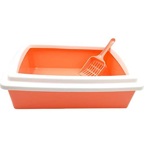 Huisdier vuilnisbak Semi-ingesloten Cat Toilet Rechthoekige nestdoos Cat benodigdheden zijn gemaakt van kunststof, dik en duurzaam, veilig en smaakloos, mooi en modieus. Huisdier benodigdheden