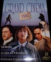 Coffret grand cinéma : le bossu ; little buddha ; la fille de d'artagnan ; anna karenine ; robinson crusoe