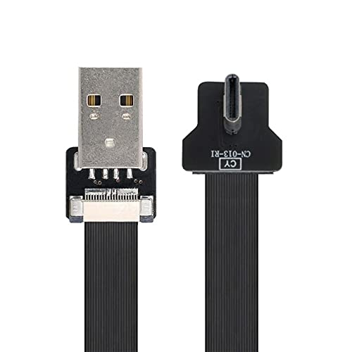 NFHK Right Angled USB 2.0 Type-A Male to USB-C Type-C Male Data...