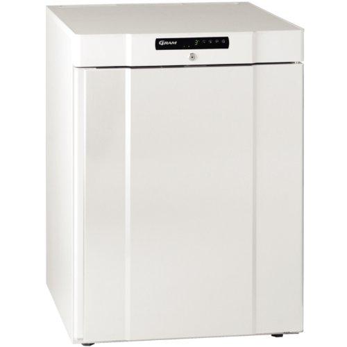 Gram Untertisch-Kühlschrank, weiß, Modell: K210LG. Kapazität: 125 Liter.