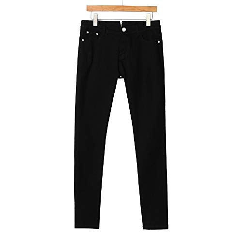 jieGorge Trousers Pants, Women Back Zipper Pencil Stretch Denim Skinny Jeans Pants High Waist Trousers, Women Trouser Plus Size (Black XL)