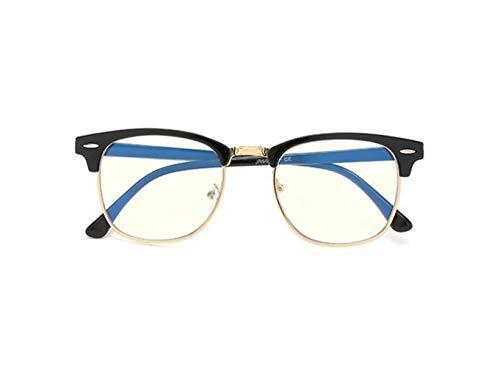 Yi-xir diseño Clasico Anti Blue Light Gafas Hombres Gafas de computadora Marco para Mujer Myopia Ocular Net Ocular Gafas Marco Hombres Hombres Falsos Gafas Moda (Frame Color : Blak Gold)