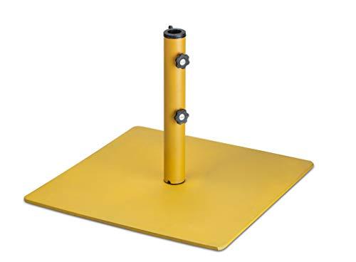 LANTERFANT - Sonnenschirmständer Tygo, Metall, 48 mm, Metall, Erhältlich in DREI Farben, Gelb