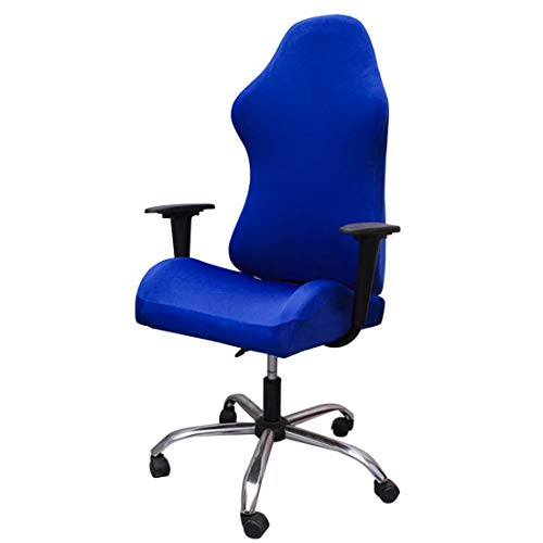 Jiyaru Gaming Chair Cover Stretch Office Computer Chair Slipcover Armchair Game Chair Protector Slipcovers Blue
