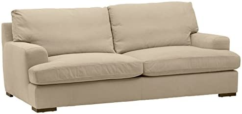 Best Amazon Brand – Stone & Beam Lauren Down-Filled Oversized Sofa Couch with Hardwood Frame, 89\