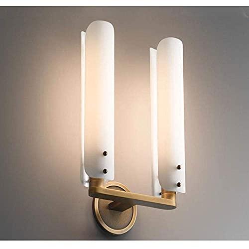 LBMTFFFFFF Novedad Lámpara de Pared Soporte de Luz Luz Minimalista Posmoderna Lámpara de Pared de Re de Lujo Lámpara de Cabecera de Dormitorio Lámpara de Pared de Fondo Lámpara de Pasillo Lámpara de