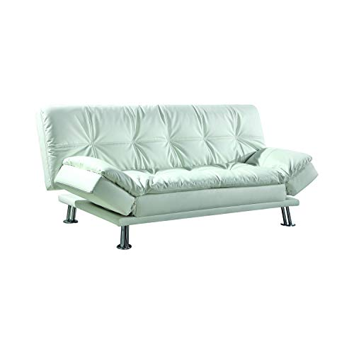 Dilleston Sleeper Sofa Bed with Casual Seam Stitching White
