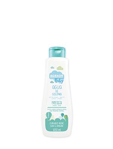 Agua de Colonia Fresca Infantil - 650 ml Formato familiar Con tapón bisagra Perfume suave y fresco - Agrado Baby