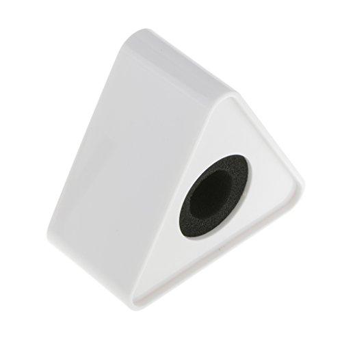 Desconocido ABS Moldeado por Inyección Triangular Micrófono Estación Logo - Blanco