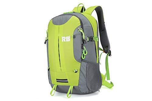 Reflective Backpack, high vis backpack for men, RiderBag Reflektor 35L. Bike commuter backpack, outdoor riding backpack, hiking backpack, waterproof backpack with rain cover. motorcycle backpack rider bag.…