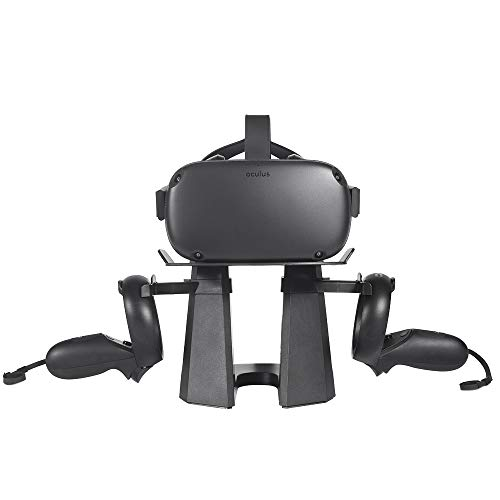 Supporto VR per Oculus Rift S PC Powered VR Gaming Headset e Oculus Quest All-in-one VR Gaming Headset Holder Storage Display Controller Mount Station