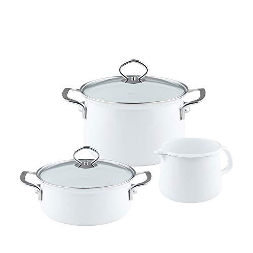 Riess, 0520-033, Novelle - Batería de cocina (3 piezas, cacerola con tapa...