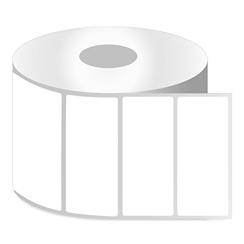"[10 Rolls / 13750 Labels] SOJITEK ZE1400100 4"" x 1"" Direct Thermal Labels, Compatible with Zebra Printers for Barcode Shipping Address Mailing FBA Stickers SKU Labels - 1"" Core"