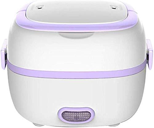 Mini Rice Cooker Chauffage électrique Boîte à lunch multifonction Alimentation Isolation thermique Repas Boîte Cuit-vapeur portable, A jszzz (Color : A)