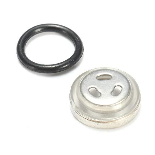 Aleación de la motocicleta embrague palanca del freno de palanca de freno Una Mirilla de vidrio de 10 mm de la motocicleta de la bici cilindro maestro de frenos del depósito universal Negro Juego de P