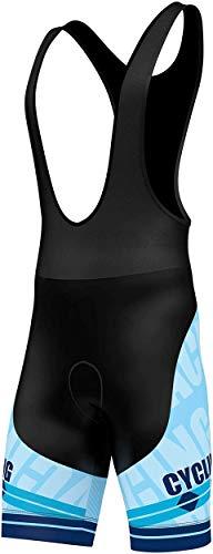 Salopette per ciclismo, imbottita in gel 3D, pantaloncini da ciclismo con stampa a sublimazione, di FDX, FDX-1320-20-18c, Sky Blue, S