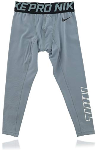 Nike Pro Dri-Fit Athletic Active Boys Sports Pants (4) Gray