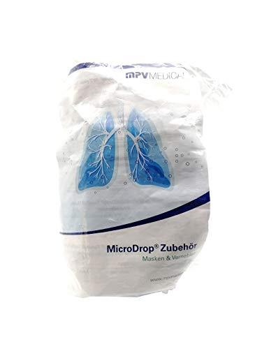 MICRODROP RF7 Maske Erwachsene blau transparent 1 St