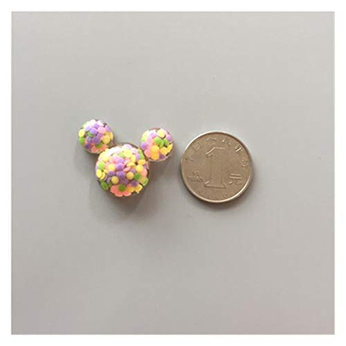 JSJJARF Imán de Nevera Creative Mini Lindo imán de corazón Mensaje Pegatina de decoración del hogar Cristal (Color : Duo Mickey)