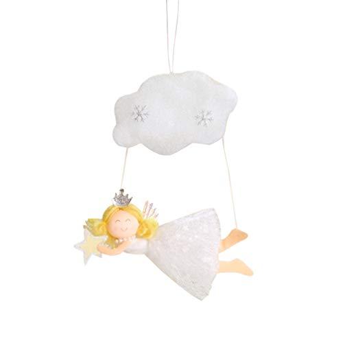Amosfun ángel de Navidad Adorno Colgante ángel con Nube y Estrella decoración ángel muñeca Adorno Navidad Escritorio Adorno Blanco