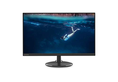 Lenovo C27-20 27-Inch WLED Monitor, FHD, IPS, FreeSync, 75Hz, 4ms, HDMI, VGA, Ergonomic Design, 65F6KCC1US, Black